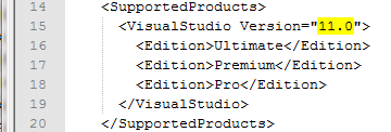 Change Visual Studio Version For Extension