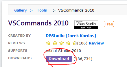 Download Visual Studio Extension