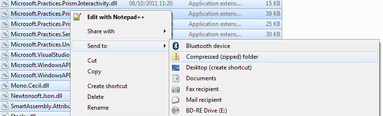 Compress a folder to zip