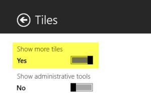Show more tiles